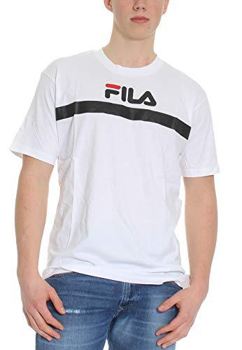 Fila T Shirt Uomo Men Anatoli 687231 Bianco - Bianco, M