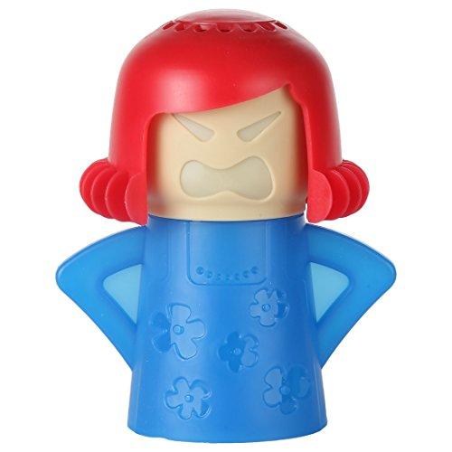 home-x Dampf 'n Mama Mikrowelle geeignet. Blue Körper und rot Haar.