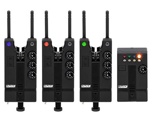 MAD Hi T Bite Alarm Funk Bissanzeigerset 3 Bissanzeiger und 1 Receiver, 8400331