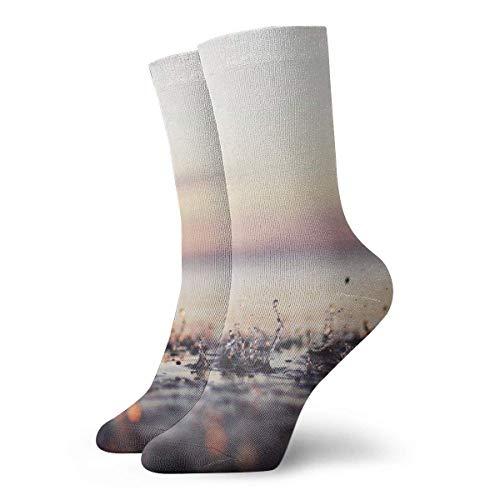 QUEMIN Pascua Pinterest Nuevos calcetines de compresión antideslizantes para la lluvia Calcetines deportivos acogedores de 30 cm para hombres, mujeres y niños