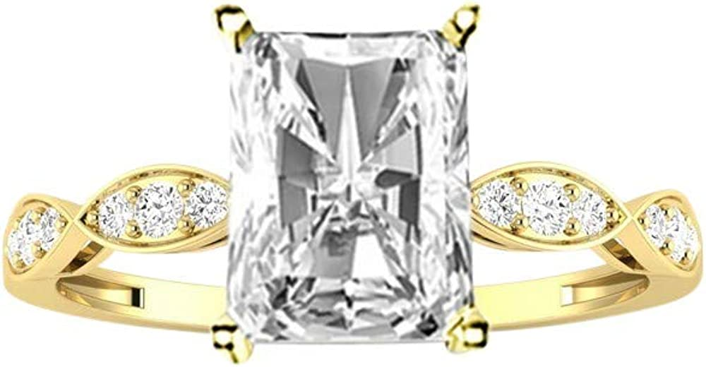 1.15 Ctw 14K White Time sale Gold Petite Radiant Curving Max 55% OFF IGI Cut Certified