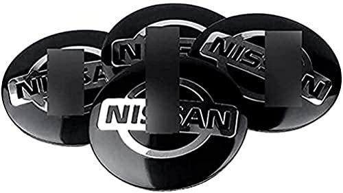4pcs Coche Eje De La Rueda Tapas Centrales Para Nissan Qashqa Tiida Teana Skyline Juke X-Trail 56mm, A Prueba De Polvo Decorativa Accesorios De Estilo