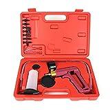 Honelife Hand Held Vacuum Pressure Pump Tester Tool Brake Bleeder Kit Adapters