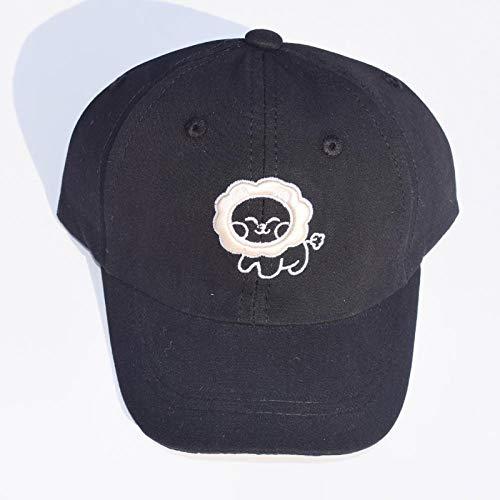 MIBQM Unisexo Niños Gorra de béisbol Primavera Hip Hop Bordado ovejita niños Sombreros de 2 a 6 años-Negro