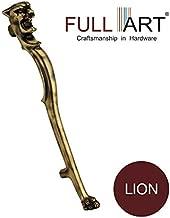 FULL ART Lion Aluminium Antique Main Door Handle (Size-15 inch)