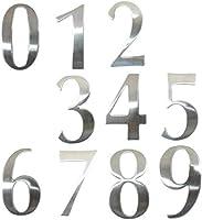 ハウスナンバープラーク0-9モダンハウスナンバーステンレススチールナンバーディジットステッカープレートサインサイズ6.2 * 3.5 * 1.9cmドアレタールームゲートナンバービンナンバーステッカー(カラー:ナンバー0)-文字D Upgrade