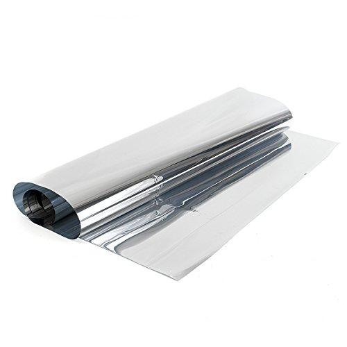 MJJEsports 60 cm 1,8 m zilver One Way spiegel inkijkbescherming reflecterend 15% kleur raamfolie