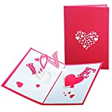 Festa della Mamma 3D Amore Carta Mother's Card, Biglietto di auguri pop-up per la festa della mamma, carta del mamma, miglior regalo per il compleanno della mamma (I Love Mom)