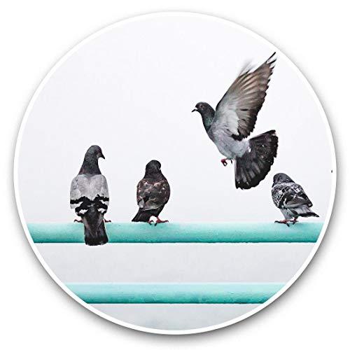 Pegatinas de vinilo (2 unidades, 15 cm), diseño de palomas, madera de palomas silvestres 46035