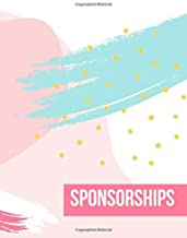Sponsorships: Keep Track of Your Paid Sponsorships, Reviews,  & Brand Deals - Influencer Logbook for Income & Followers - Blogger, Streamer, Vlogger, ... Planner - 12 Months - Large (8.5 x 11 inches)