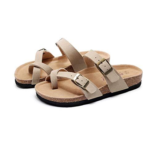 Cómoda zapatos sandalia de la plataforma, cuero de la PU, Plataforma suave Único, antideslizante, con la ayuda de arco del dedo del pie zapatos planos ortopédicos Sole dedo gordo del pie del pie sanda