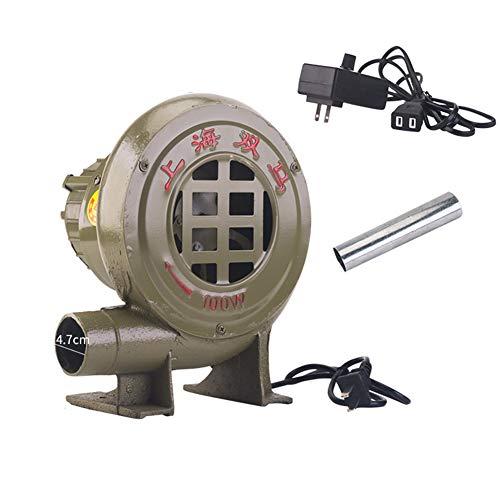 SY-Home Ventilador De Barbacoa, Ventilador Eléctrico Centrífugo De Núcleo Interior De Hierro Fundido De 220 V con Interruptor De Gobernador Y Conducto De Aire,80W