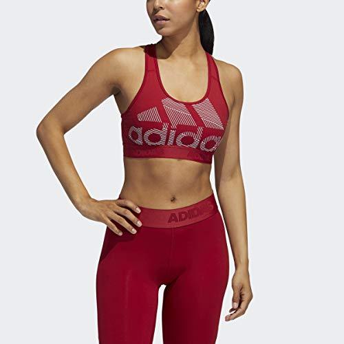 adidas Women's Don't Rest Alphaskin Badge of Sport Bra, X-Small, Active Maroon