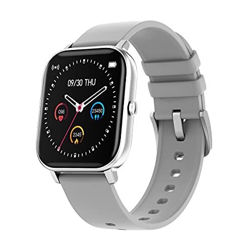Relojes inteligentes para hombres y mujeres, pantalla táctil completa de 1.4 ', podómetro a prueba de agua IP67, reloj fitness tracker con monitor de sueño, reloj inteligente para teléfonos Android