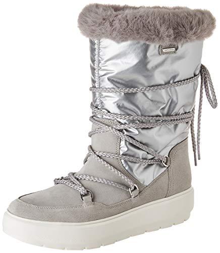GEOX D KAULA B ABX C LT GREY/SILVER Women's Boots Snow size 35(EU)