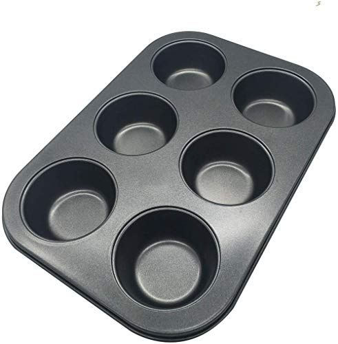 Bakken Mold Muffin Cupcake Tins Moulds Chocolade Zoete Moulds Perfecte resultaten Nonstick 6-Cup Muffin Pan anti-aanbakpannen Makkelijk schoon te maken en Perfect voor het maken van Jumbo Muffins of Mini Cakes