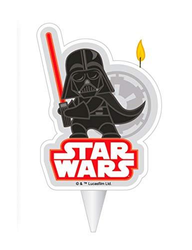 Dekora - Vela de Cumpleaños en 2D de Darth Vader de Star Wa