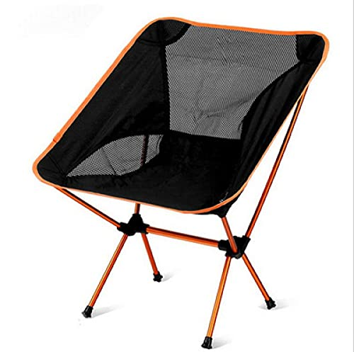 KLJLFJK, camping chair, outdoor folding chair, fishing chair, beach folding chair, can be used for outdoor, camping, picnic, hiking, fishing, beach-Orange_Chair