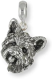Cairn Terrier Jewelry Cairn Terrier Earrings Jewelry Sterling Silver Handmade Dog Earrings CNWT14-E