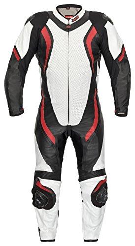 XLS Lederkombi Racing Einteiler schwarz rot einteilig Motorradkombi (48)