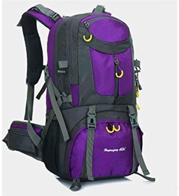 Reise-Wanderrucksack, Outdoor und Indoor 60L Sport Sport Sport Outdoor Rucksack Klettern Tasche Wandern Camping Rucksack (Lila) B07LDX2N9G  Der neueste Stil 9f3d7e