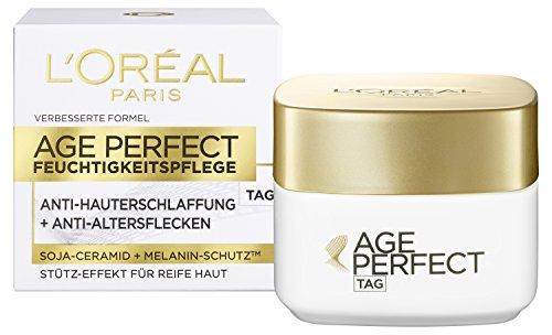 L'Oréal Paris Anti-Aging Feuchtigkeitspflege, Age Perfect Tagescreme für eine straffe Haut und gegen Altersflecken, 50 ml