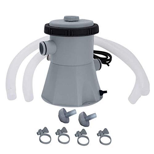 Pompe de filtration pour piscine hors-sol - 15 W/220 V - Kit d'outils de nettoyage