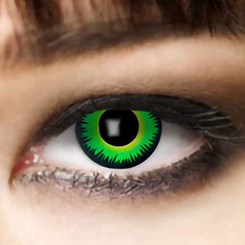 Leo Eyes Funlinsen 3-Monatslinsen Green Wolf Zombie Halloween Fastnacht Fasching Party