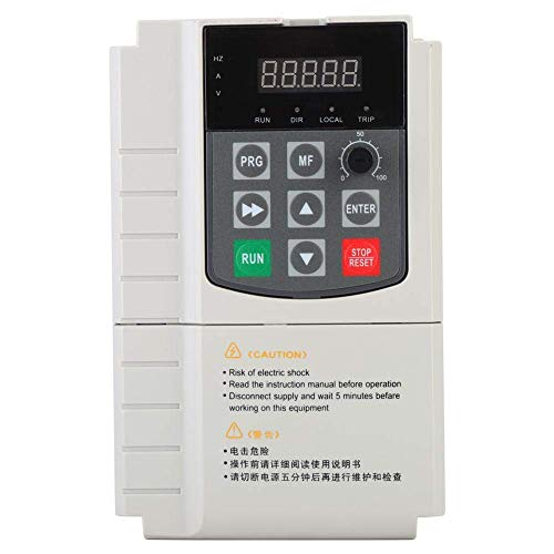 L-YINGZON Motor 3-Phase Vector Inverter Built-in PID Controller for Industrial Applications 380V, High Software Motor Driver(1.5KW)