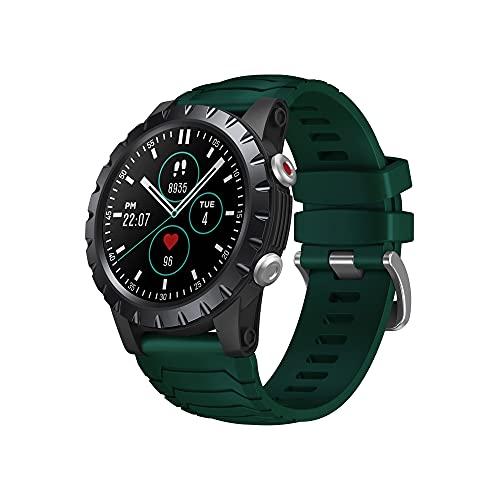 YOUANG Reloj inteligente deportivo multifuncional con monitoreo de frecuencia cardíaca de presión arterial, 5ATM impermeable GPS seguimiento reloj móvil, para hombre mujer niño