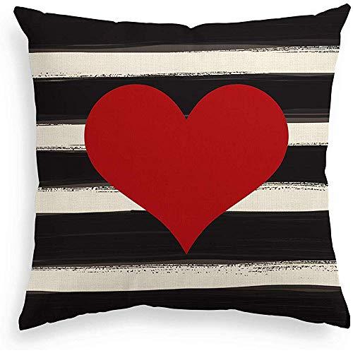 Eliuji Liefde hart gooien kussensloop, 45x45cm Vakantie Valentijnsdag verjaardag bruiloft kussensloop voor bank woonkamer