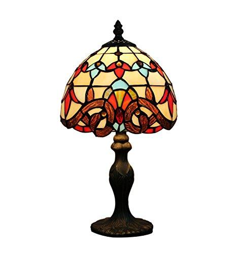 Tiffany 8 pouces Style baroque Tiffany Table Lamp Chambre européenne Lumière lampe de chevet Chambre Lampe