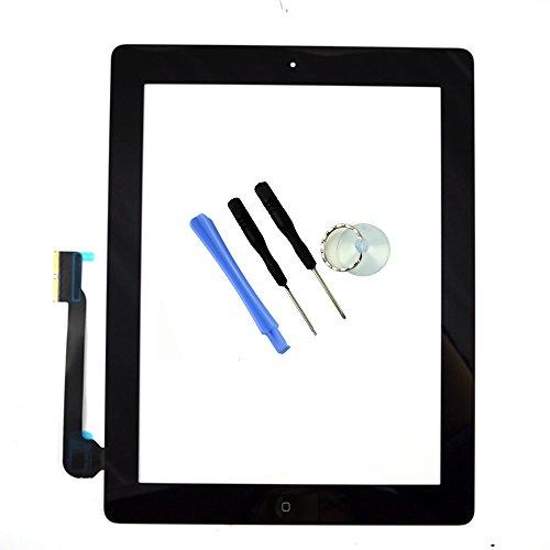 Per ipad 3/4 sostituzione dello schermo Nero iPad 3 rd/4 ° Generazione Touch Screen Digitizer Pannello Frontale Riparazione Vetro con il Tasto Home Strumenti Gratuiti