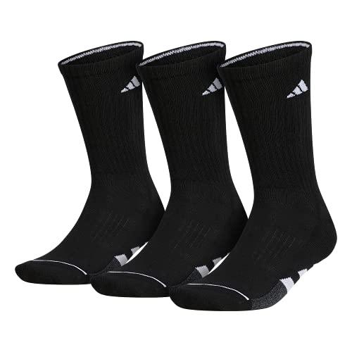 adidas Calcetines acolchados para hombre (paquete de 3), Hombre, Calcetines, 104452, Negro/Blanco/Negro-Onix Marga, Large (Shoe Size 6-12)