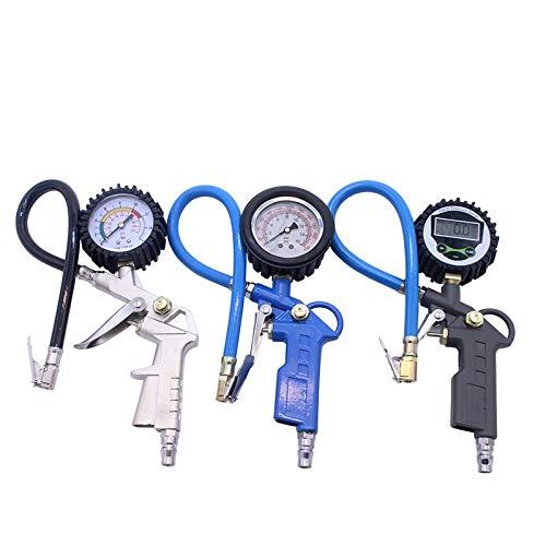 Yongenee Calibrador de presión de presión de neumáticos de Aire Digital para camión de automóvil Motor de Bicicleta Motores de Pistola de presión de neumáticos Medidor de Control de vehículos Sistema