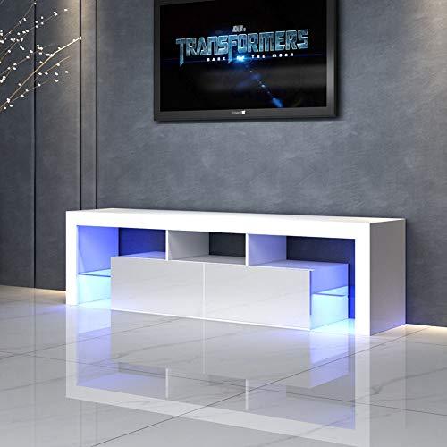 SXFYWJ Mesa TV con LED Mueble nordico TV Muebles de televisión salón Mueble Salon Adecuado para Sala de Estar, Dormitorio, Oficina 160 * 35 * 45cm
