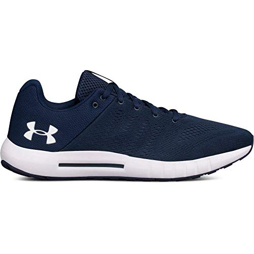 Under Armour Men's Micro G Pursuit Running Shoe, Academy Blue (402)/Black, 10.5
