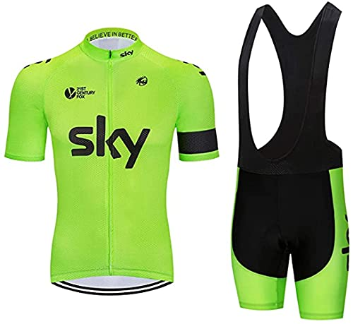 Abbigliamento Sportivo da Bici Uomo 5D Completo Abbigliamento Ciclismo Uomo Estivo Camicia da Ciclismo Maniche Corte e Pantaloncini Corti Bicicletta con 5D Gel Imbottiti
