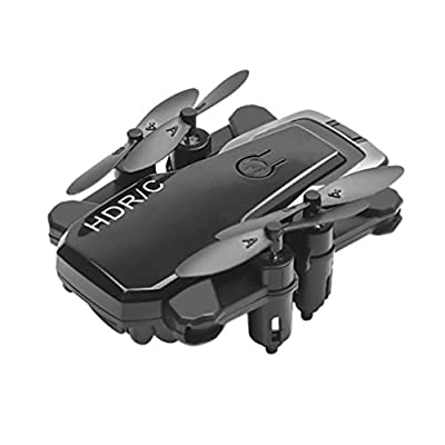 NUOBESTY D2 Mini RC Drone Foldable Remote Control Helicopter Altitude Hold Mode Quadcopter Mini Drone for Beginners Gravity Control Headless Mode One Key Take Off Gifts Outdoor Toy No Camera, Black