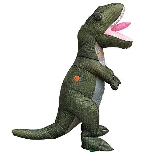 RENS Divertida ropa inflable, disfraz de tiranosaurio Rex de dibujos animados, interesante spoof cosplay disfraz de senderismo