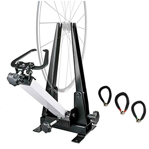 BIKEHAND Bike Wheel Professional Truing Stand Bicycle Wheel Maintenance  Great Tool for Rim Truing with Free Spoke Wrenches and Heavy Duty Base