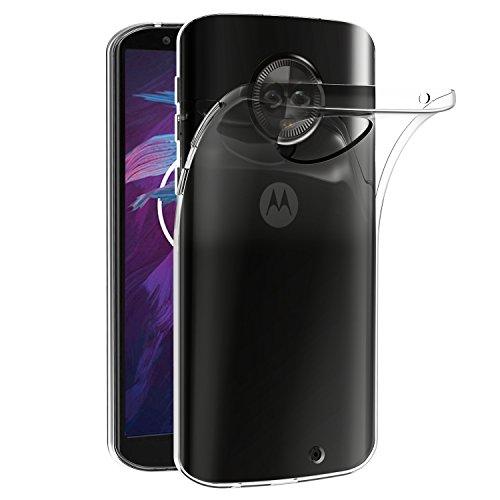 ivoler Hülle Hülle Kompatibel für Motorola Moto G6 Plus, Premium Transparent Klare Tasche Schutzhülle Weiche TPU Silikon Gel Handyhülle Schmaler Cover