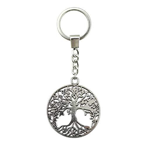 Yggdrasil Lebensbaum der Wikinger Vikings Schlüsselanhänger Metall 3,5cm Odin | Valknut | Thor | Geschenk für Männer | Baum | Yin Yang | Ragnar |