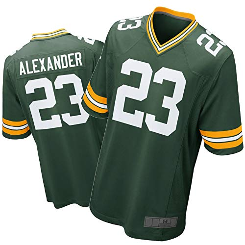 FDWD Jaire Alexander Packer Jersey-Green Bay Amercian Football Shirt Game Player Jersey Fan Training T-Shirt Outdoor Sportswear Atmungsaktiv Gr. S, farbe