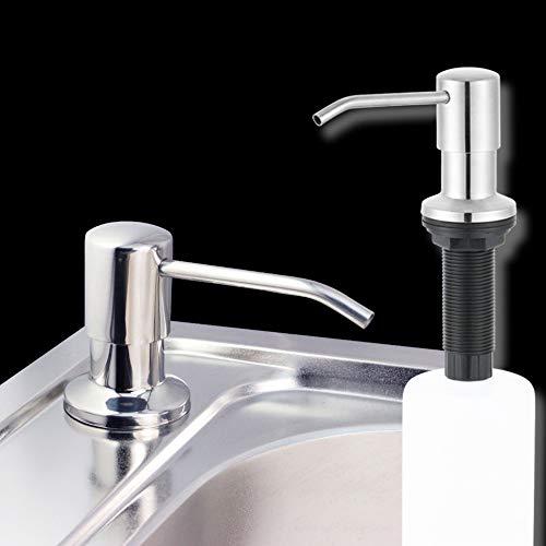 DyNamic 500Ml Roestvrijstalen Keukenzeepdispenser Diy Sink Liquid Shampoo Lotion