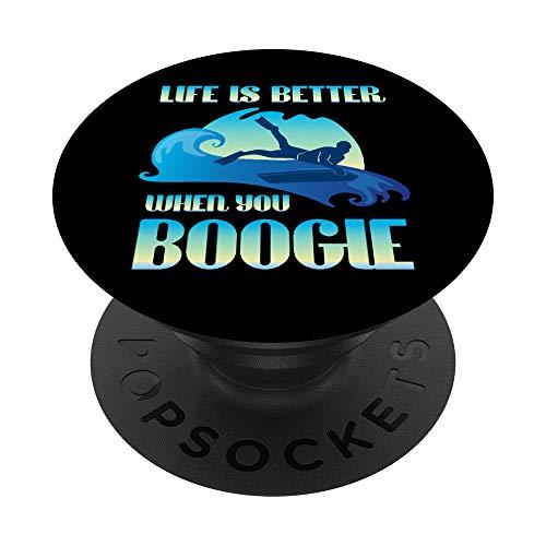 Surf Divertente Life Is Better When You Boogie Board PopSockets Supporto e Impugnatura per Smartphone e Tablet