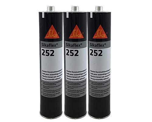 Sparset 3x Sikaflex 252 1K-PU Klebstoff Karosseriedichtmasse 300ml weiß