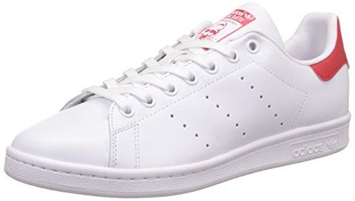 adidas Originals Stan Smith, Zapatillas de Deporte Unisex Adulto, Blanco (Running White Footwear/Running White Footwear/Collegiate Red), 39 1/3 EU