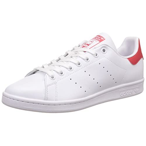 adidas Originals, Stan Smith, Sneakers, Unisex - Adulto, Bianco (Footwear White/Collegiate Red), 46 2/3 EU