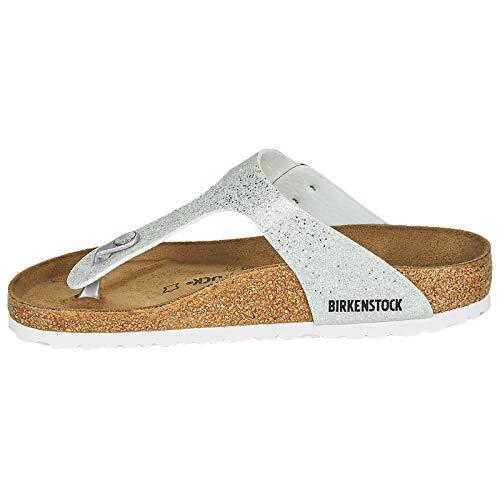 Birkenstock Damen Tongs Gizeh Birko-flor Cosmic Sparkle White Sandale, 40 EU